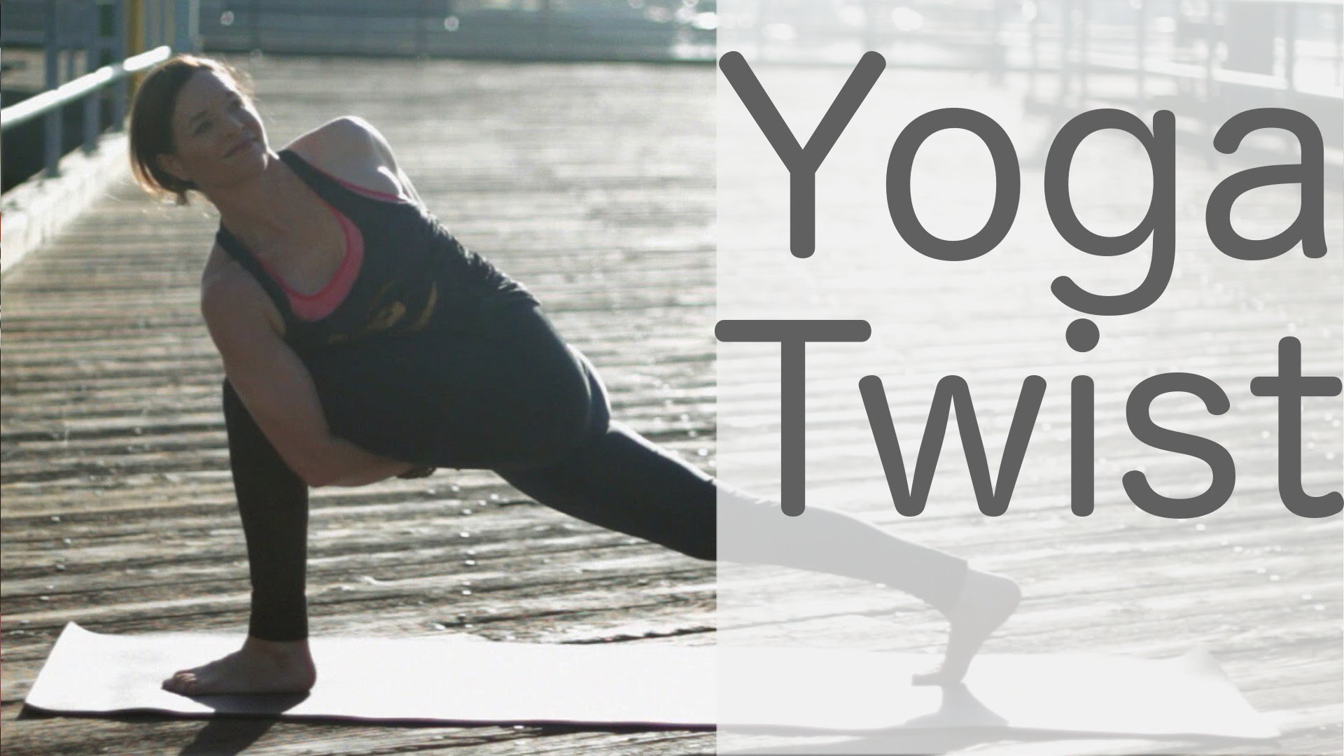 "Vinyasa Yoga class to ""twist it on out!"" with Lesley Fightmaster"