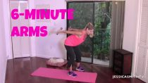 Arm Flab Fighter, Tighten Triceps, Free Full Length Upper Body Workout: 6 Minute Arms