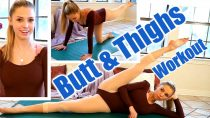 10 Minute Thighs Gap & Butt Workout, Beautiful Ballet Flexibility Exercises For Women at Home