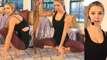 12 Minute Workout Beautiful Ballet Legs & Buns Stretches For Beginners At Home
