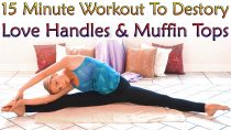 Muffin Top Meltdown & Love Handle Workout For Women, 15 Minute At Home Exercise