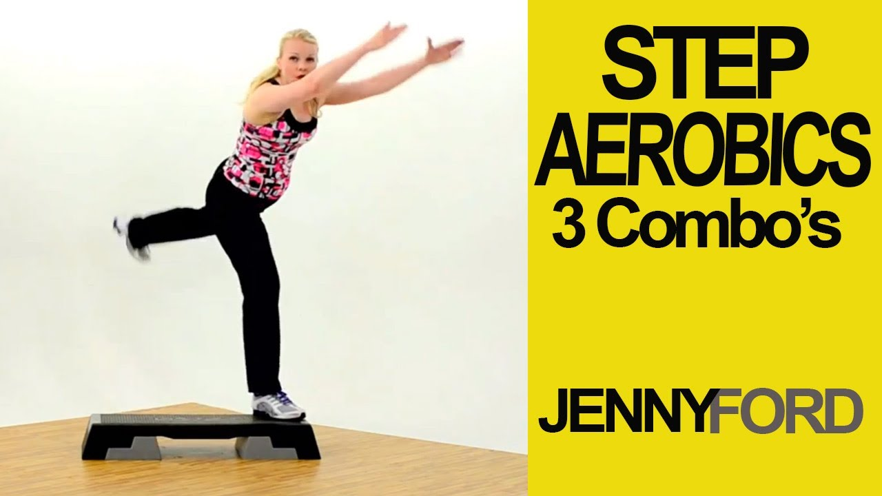 Step Aerobics Basic w/3 Combos-Fitness Cardio Workout — Jenny Ford