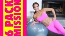 6 Pack Mission: How To Get Defined Abs w/ a Stability Ball | Natalie Jill