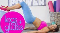 Leg, Glute and Inner-Thigh Workout Using a Stability Ball | Natalie Jill