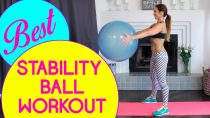 Quick Full Body Workout Using a Stability Ball | Natalie Jill