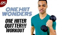 30 Min. One HIITer Quitter – One Dumbbell Workout | One HIIT Wonders #05