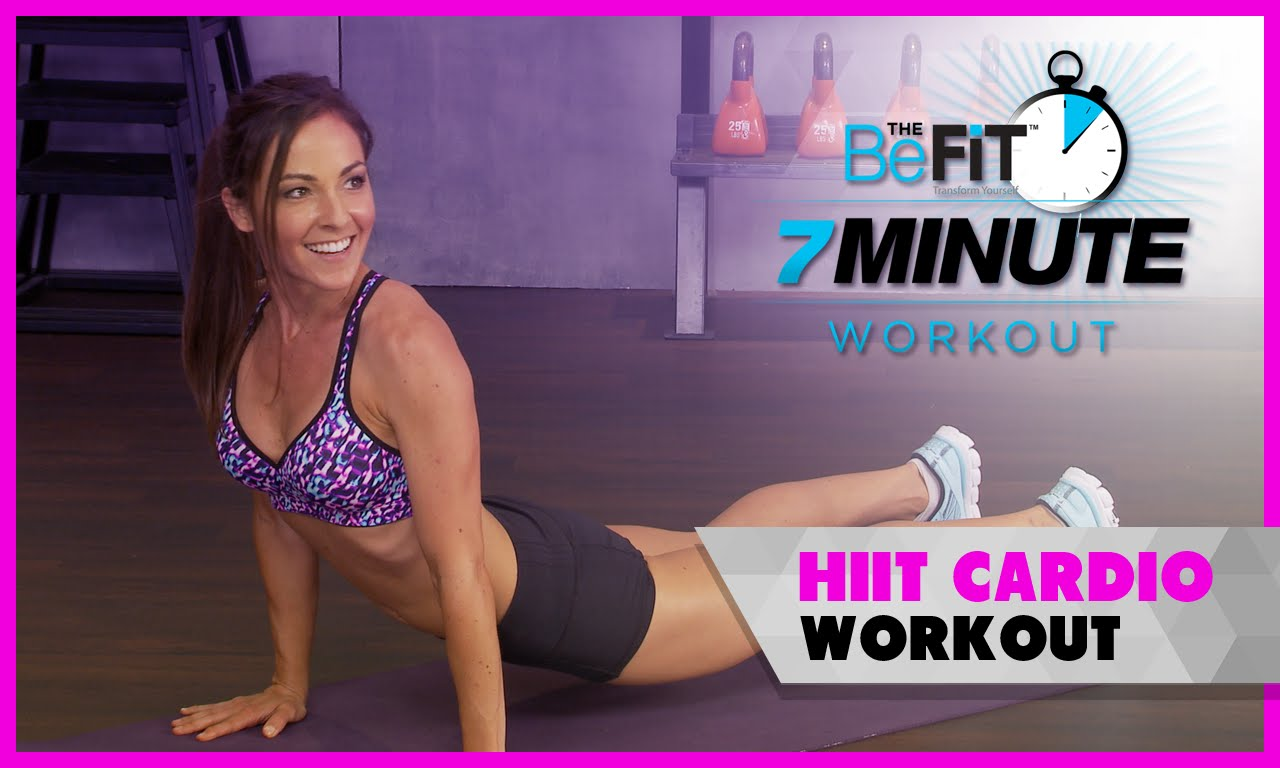 Quick and Sweaty HIIT Cardio Workout: 7 Minute Workout Series