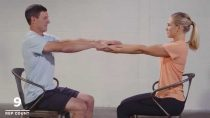 Partner Chair Workouts for Shoulder and Hip Mobility